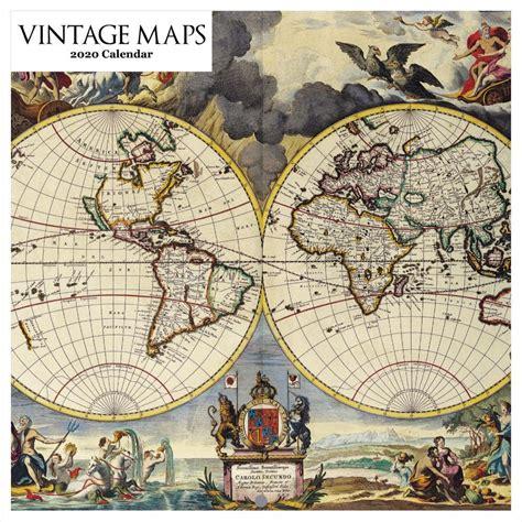 vintage maps wall calendar
