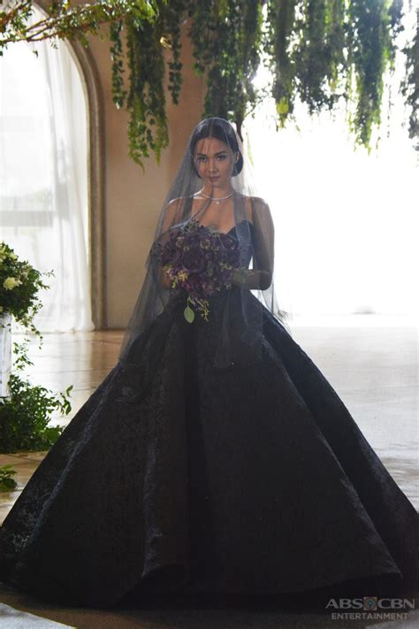 ivys trending black wedding gown  close