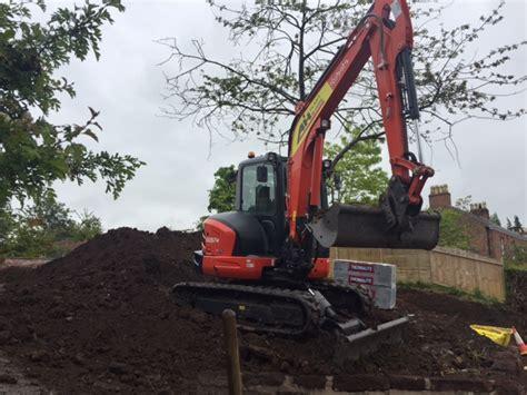 excavator hire kg  ton kubota kx