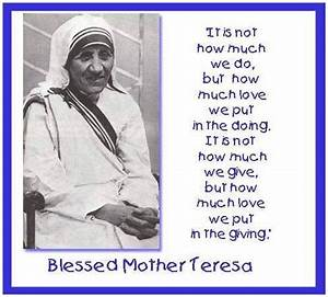 Mother Teresa Quotes Holiness. QuotesGram