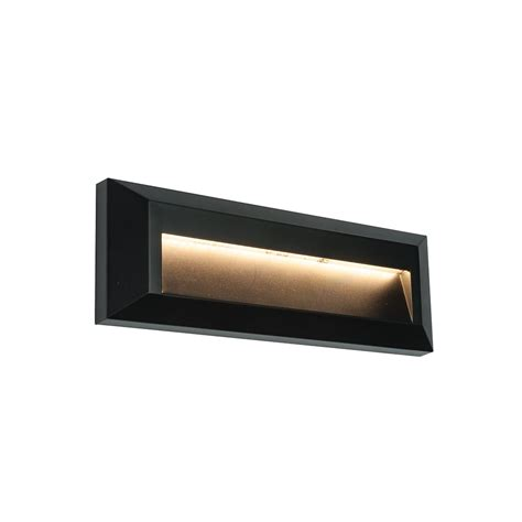 endon 61214 severus led wall light ip65 black