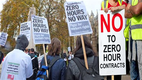 zero hour contracts record hit hours guaranteed workers employment almost million work
