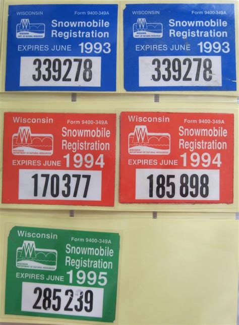 Wisconsin Boat Stickers by Snowmobile Registration