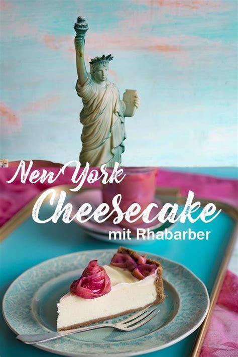 york cheesecake mit rhabarber  kueche suesse