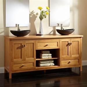 "72"" Alcott Bamboo Double Vessel Sink Vanity - Vessel Sink"