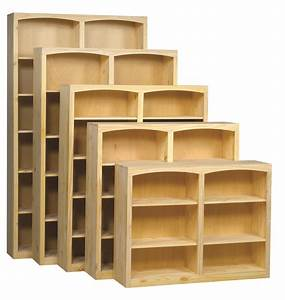 Archbold Furniture 48quot Wide Center Divider Pine Bookcase
