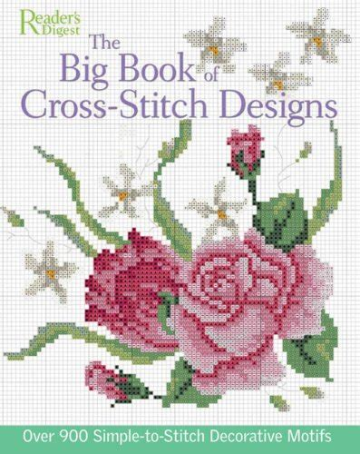 big book  cross stitch design   simple  sew decorative motifs  readers digest