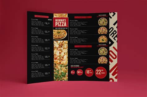 Pizza Menu Template Word by Trifold Pizza Menu Template Brandpacks
