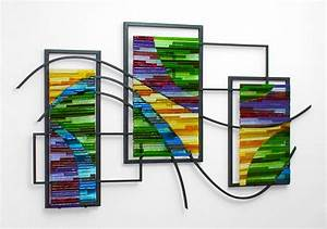 Custom Made Fused Glass And Metal Wall Art by Bonnie M