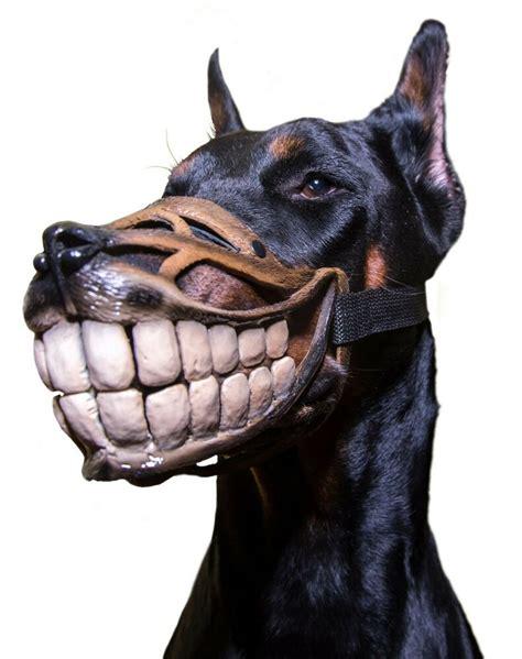 Smile MUZZLE Funny Teeth Werewolf MUZZLE For Dogs DOBERMAN Funny Dog Accessory EBay