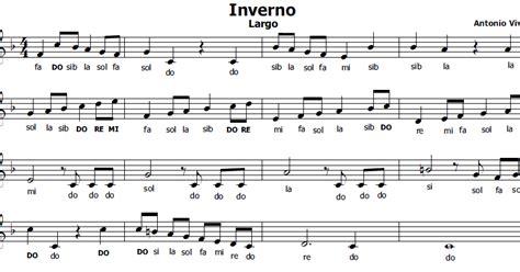 Valzer Delle Candele Spartito by Musica E Spartiti Gratis Per Flauto Dolce Inverno Di Vivaldi