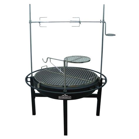 rivergrille cowboy 31 in charcoal grill and fire pit gr1038 014612 the home depot