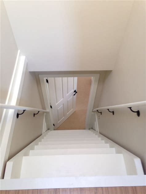 Attic stairs from atop   attic   Pinterest   In kitchen