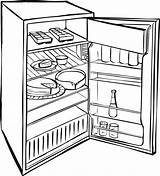 Fridge Refrigerator Coloring Drawing Open Food Clipart Pages Sketch Drawings Clip Empty Rocks Printable Getdrawings Paintingvalley Getcolorings Colorings Sketches Clker sketch template