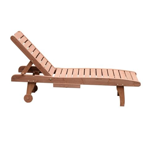 chaise table outsunny wooden chaise lounge outdoor patio furniture