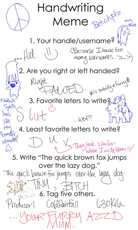 Handwriting Meme - handwriting meme o3o by floatingbubbles on deviantart
