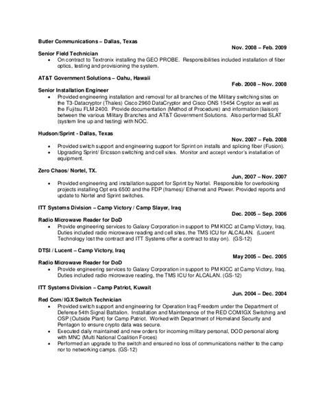 Optical Technician Resume by A Rosario Resume 2013 A