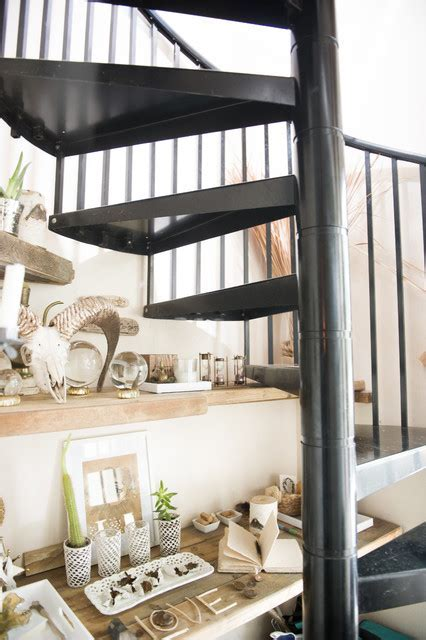 Bohemian Jungle Artist Studio   Beach Style   Staircase