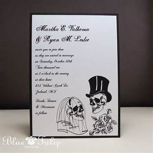 wedding skulls alternative style wedding invitation With halloween style wedding invitations