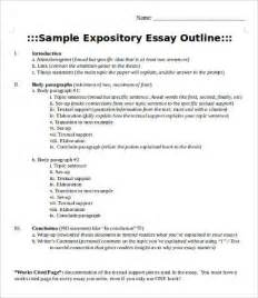 Writing Expository Essay Outline Template
