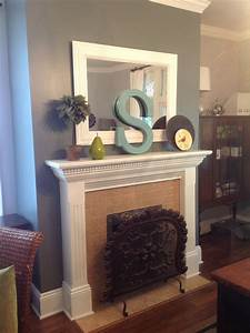 fireplace mantle decorations diy painted letter home With mantle letters