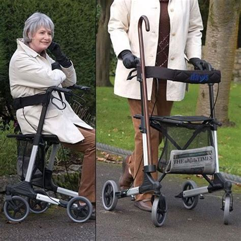 rollator lightweight seat deluxe days rollators seats mobility access able walkers tri aids care completecareshop