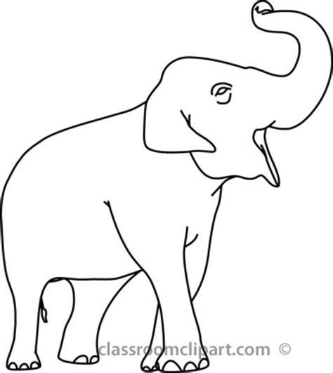 elephant clipart outline trunk up animals elephant outline 05 22812 classroom clipart