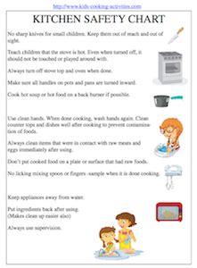 kids cooking printables kitchen safety kitchen