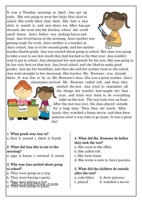 worksheet grade 2 reading comprehension worksheets