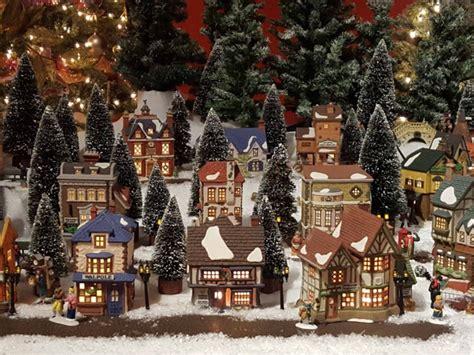 miniature dickens themed christmas village display