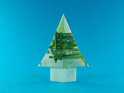 tannenbaum geldscheine und geldgeschenke origami kunst