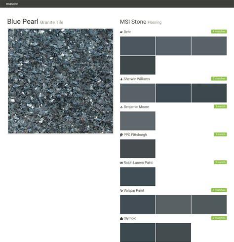 blue pearl granite tile flooring msi stone behr sherwin williams benjamin ppg