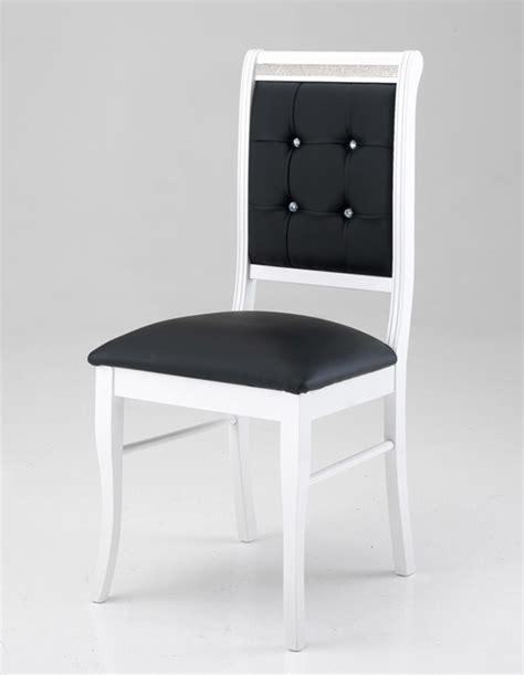 chaise noir et blanc chaise prestige blanc noir