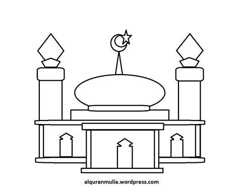 gambar masjid kartun sederhana