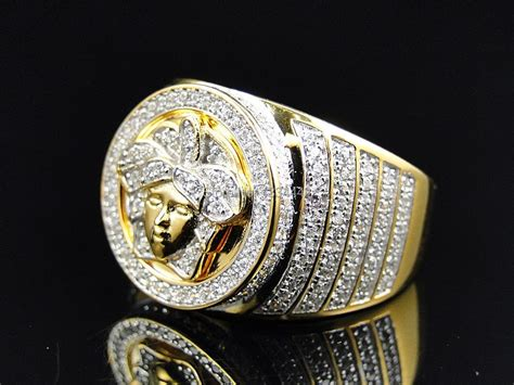 arrived luxury mens big ring gold jewelrybling micro pave cz hip hop mens ring