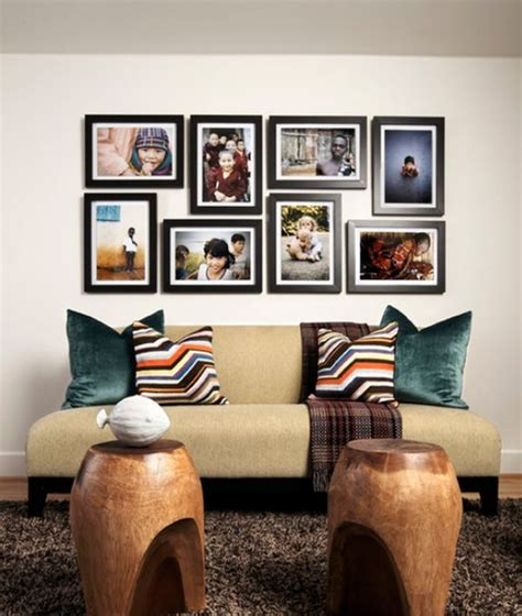 Living Room Decorating Ideas Picture Frames by 50 Cool Ideas To Display Family Photos On Your Walls