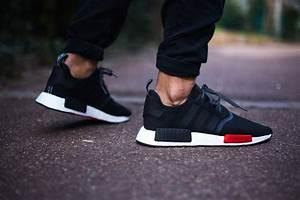 adidas NMD R1 Foot Locker Black Red Sneaker Bar Detroit