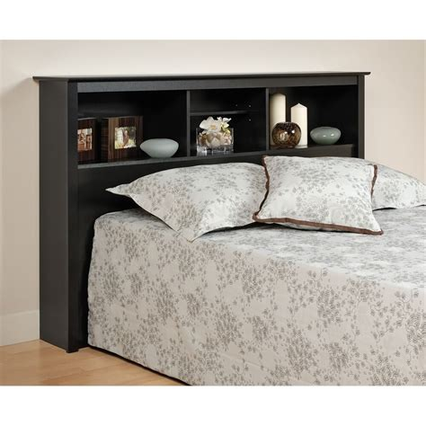 Bookcase Headboards by Prepac Black Bookcase Headboard Ebay