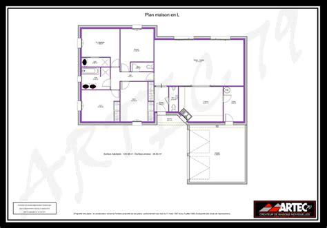 plan maison en l 120m2 images