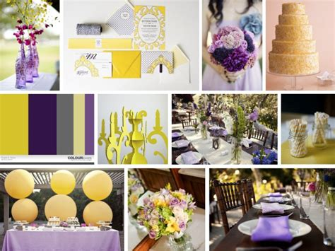 wedding decoration purple and yellow inspiration board eclectic purple yellow every last detail