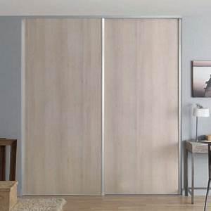 Porte Placard Coulissante Castorama : 1 porte de placard coulissante acacia 92 2 x 245 6 cm ~ Farleysfitness.com Idées de Décoration