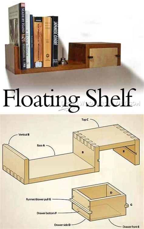 ideas  floating shelf  drawer