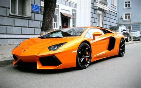 Lamborghini Aventador Lp 700-4 Supercars Orange Wallpaper