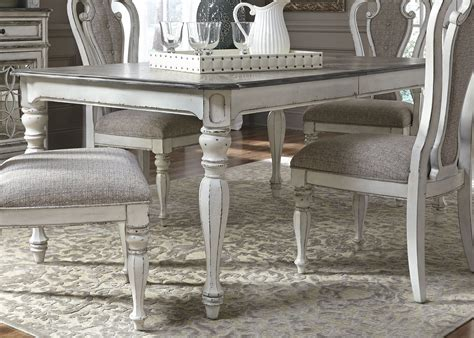 antique white dining table magnolia manor antique white extendable rectangular dining 4135