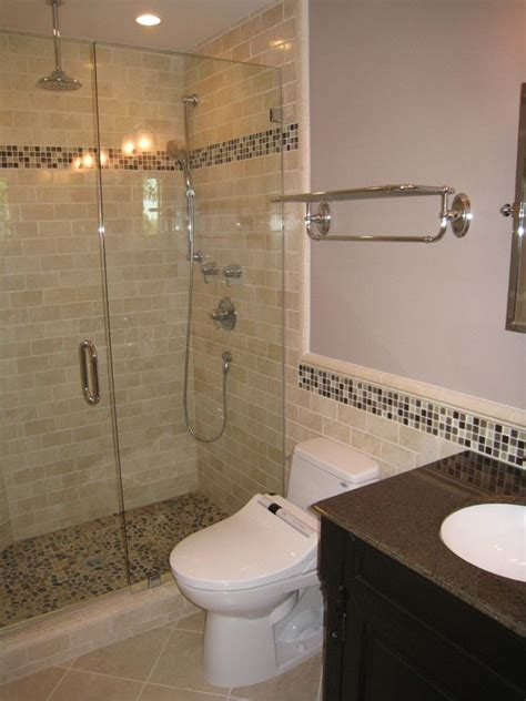bathrooms with subway tile ideas beige subway tile bathroom contemporary with none