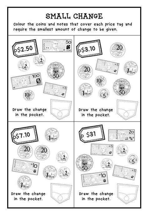 australian money worksheets higher order thinking grade