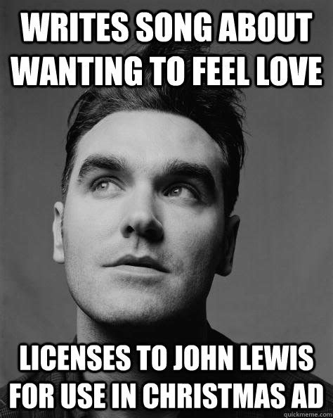 Lewis Meme - would go out tonight not a stitch to wear scumbag morrissey quickmeme