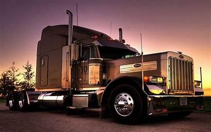 Peterbilt Truck Semi Wallpapers 4k Trucks Sunset
