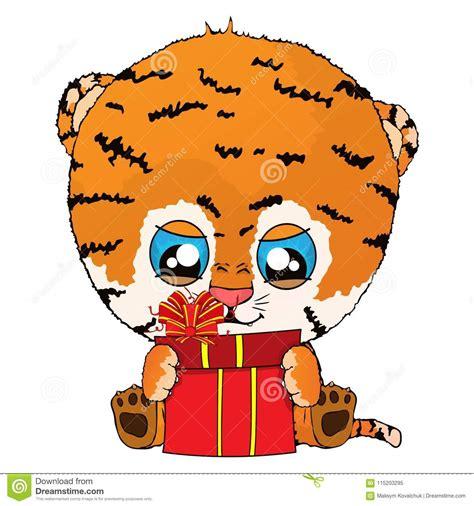 Cute Siberian Tiger Cub Stock Image Cartoondealer