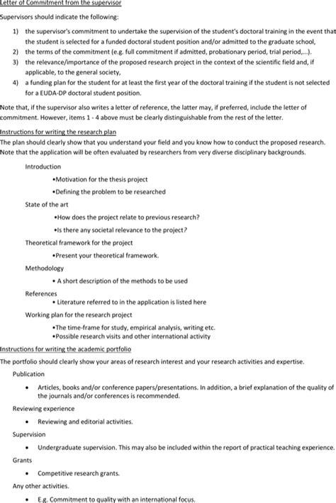 supervisor letter  instruction template